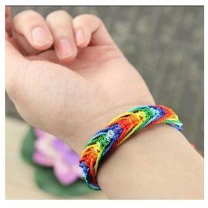 Jewelry - LGBT Bracelet, Rainbow Bracelet, Woven Brace